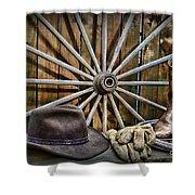 The Wagon Master Shower Curtain