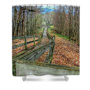 The Walk In The Woods Shower Curtain