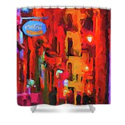 The Walkabouts - Spanish Red Moon Stroll Shower Curtain