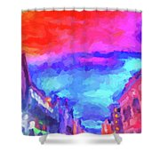 The Walkabouts - Sunset In Chinatown Shower Curtain