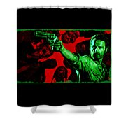 The Walking Red Shower Curtain
