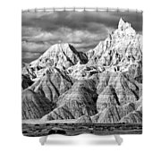 The Wall Black And White Shower Curtain