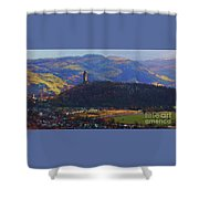The Wallace Tower Stirling Scotland Shower Curtain