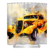 The Wanderer Watercolor Shower Curtain
