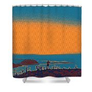 The Wandering Youth Shower Curtain