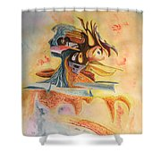 The Warrior Shower Curtain