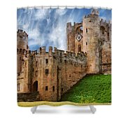 The Warwick Castle Shower Curtain