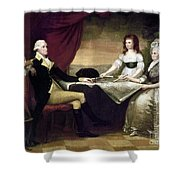 The Washington Family Shower Curtain