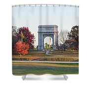 The Washington Memorial At Valley Forge Panorama Shower Curtain