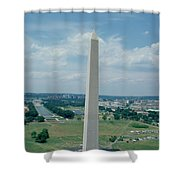 The Washington Monument Shower Curtain by American School