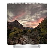 The Watchman Sunset Shower Curtain