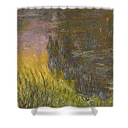 The Water Lilies, Setting Sun Shower Curtain