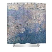 The Water Lilies, The Clouds Shower Curtain