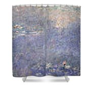 The Water Lilies, The Two Willows Shower Curtain