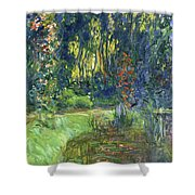 The Water-lily Pond At Giverny  Shower Curtain