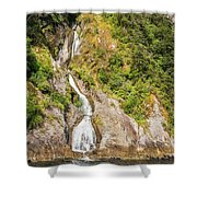 'the Water Of Life' Spring At Doubtful Sound Shower Curtain
