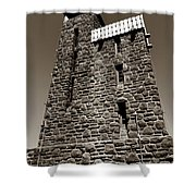 The Water Tower At Mount Constitution Shower Curtain