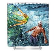 The Water Wall Shower Curtain