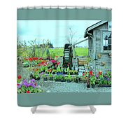 The Water Wheel Shower Curtain