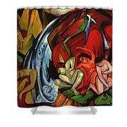 The Waterfall 1912 Shower Curtain