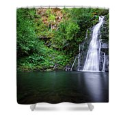 The Waterfall And Large Pool Of Vieiros Shower Curtain
