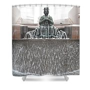 The Waterman Fountain Shower Curtain