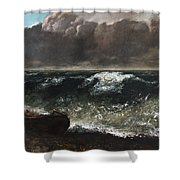 The Wave 1869 1 Shower Curtain