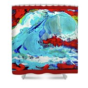 The Wave #2 Shower Curtain