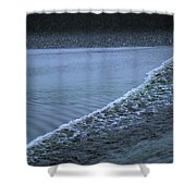 The Wave Of A Bore Tide Traveling Shower Curtain