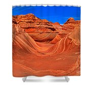 The Wave Panorama - X Shower Curtain