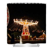 The Wave Swinger Ride Navy Pier Chicago Shower Curtain