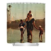 The Way From The Village. Time Of Inundation. Egypt Shower Curtain