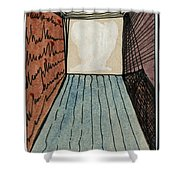 The Way Into This Room.  Surreal Box. Aceo Shower Curtain