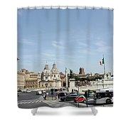The Way To Piazza Venezia Shower Curtain