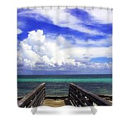 The Way To The Beach 2 Shower Curtain