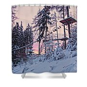 The Way To The Sky V2 Shower Curtain