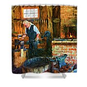 The Way We Were - The Blacksmith - Paint Shower Curtain
