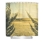 The Wayback Meadow Shower Curtain