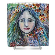 Wealth Of Winter Shower Curtain