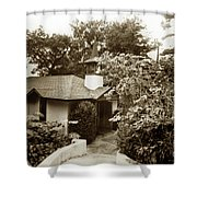 The Wedding Chapel Carmel  Highlands Inn Circa 1968 Shower Curtain
