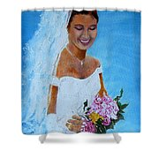the wedding day of my daughter Daniela Shower Curtain