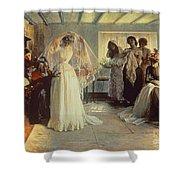 The Wedding Morning Shower Curtain