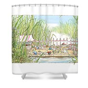 The Wedding Party Shower Curtain