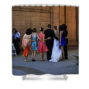 The Wedding Party Detail Shower Curtain
