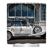 The Weddingmobile Shower Curtain