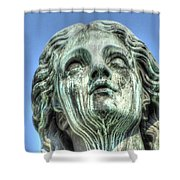 The Weeping Sculpture Shower Curtain
