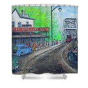 The West End Carryout At The Bridge Shower Curtain
