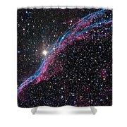 The Western Veil Nebula Shower Curtain