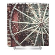 The Wheel And The Ivy Shower Curtain