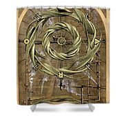 The Wheel of Fortune Shower Curtain by John Edwards